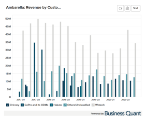 Ambarella's Revenue by Customers Worldwide